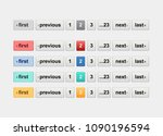 pagination bars in different... | Shutterstock .eps vector #1090196594