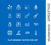 modern  simple vector icon set... | Shutterstock .eps vector #1090197410