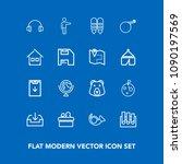 modern  simple vector icon set... | Shutterstock .eps vector #1090197569