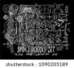 hand drawn sketch doodle vector ... | Shutterstock .eps vector #1090205189