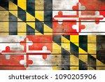 Maryland Flag Wood - Fine Art prints