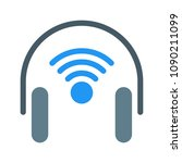 wireless audio headset   Shutterstock .eps vector #1090211099