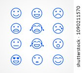 set of emoticons or emoji... | Shutterstock .eps vector #1090211570