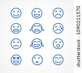 set of emoticons or emoji... | Shutterstock .eps vector #1090211570