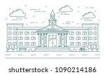 university line building... | Shutterstock .eps vector #1090214186