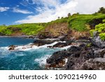 rough and rocky shore at south... | Shutterstock . vector #1090214960