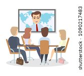 business conference meeting... | Shutterstock .eps vector #1090217483
