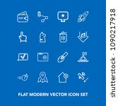 modern  simple vector icon set... | Shutterstock .eps vector #1090217918