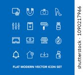 modern  simple vector icon set...   Shutterstock .eps vector #1090217966