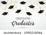 graduation class of 2018.... | Shutterstock .eps vector #1090218566