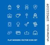 modern  simple vector icon set...   Shutterstock .eps vector #1090222109