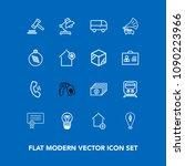 modern  simple vector icon set... | Shutterstock .eps vector #1090223966