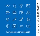 modern  simple vector icon set...   Shutterstock .eps vector #1090224128