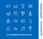 modern  simple vector icon set...   Shutterstock .eps vector #1090225604