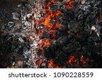Background Of Burning Hot Coals....