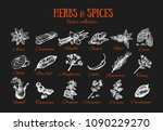 herbs and spices condiments.... | Shutterstock .eps vector #1090229270