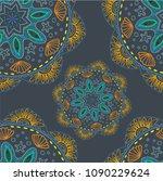 seamless pattern. ethnic... | Shutterstock .eps vector #1090229624