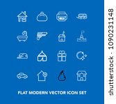 modern  simple vector icon set... | Shutterstock .eps vector #1090231148