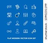 modern  simple vector icon set...   Shutterstock .eps vector #1090231199