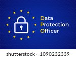 dpo   data protection officer.... | Shutterstock .eps vector #1090232339