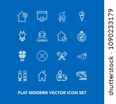 modern  simple vector icon set...   Shutterstock .eps vector #1090233179