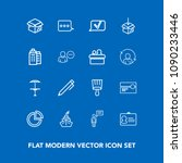 modern  simple vector icon set... | Shutterstock .eps vector #1090233446