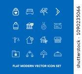 modern  simple vector icon set... | Shutterstock .eps vector #1090235066