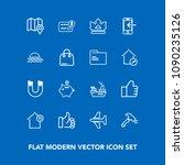 modern  simple vector icon set...   Shutterstock .eps vector #1090235126