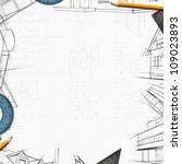 architect constructor designer... | Shutterstock . vector #109023893