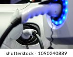 plug in hybrid car charge... | Shutterstock . vector #1090240889