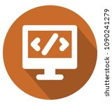 html code two colors glyph... | Shutterstock .eps vector #1090241279