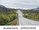 border crossing between finland ... | Shutterstock . vector #1090243928
