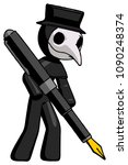 Black Plague Doctor Man Drawin...
