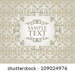 vintage frame on damask... | Shutterstock .eps vector #109024976