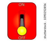 huge electric knife switch off... | Shutterstock .eps vector #1090252856