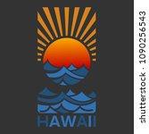 hawaii vector illustration for... | Shutterstock .eps vector #1090256543