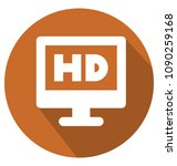 hd screen two colors glyph... | Shutterstock .eps vector #1090259168