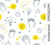 brainstorm doodle pattern.... | Shutterstock .eps vector #1090262294
