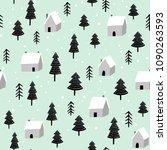 scandinavian forest vector... | Shutterstock .eps vector #1090263593