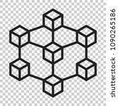 blockchain technology vector...   Shutterstock .eps vector #1090265186