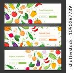 natural food   set of modern...   Shutterstock .eps vector #1090267739