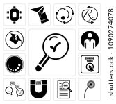 set of 13 simple editable icons ... | Shutterstock .eps vector #1090274078