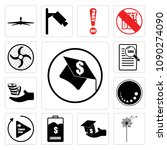 set of 13 simple editable icons ...   Shutterstock .eps vector #1090274090