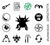 set of 13 simple editable icons ...   Shutterstock .eps vector #1090274774