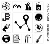 set of 13 simple editable icons ...   Shutterstock .eps vector #1090274780