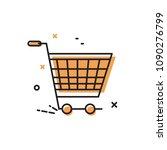shopping cart. vector icon ... | Shutterstock .eps vector #1090276799