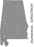 alabama county map vector... | Shutterstock .eps vector #1090278419