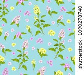 vector seamless  pattern with... | Shutterstock .eps vector #1090278740