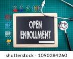 open enrollment concept.... | Shutterstock . vector #1090284260