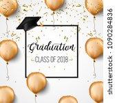 graduation. class of 2018.... | Shutterstock .eps vector #1090284836